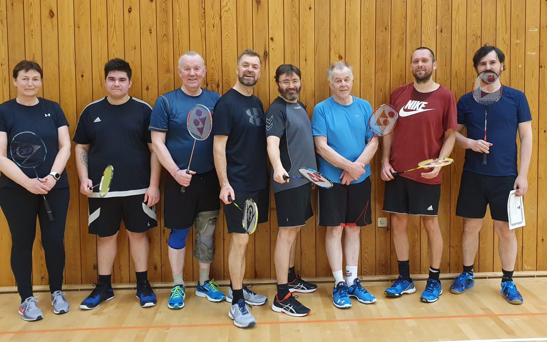 Badminton tímatafla veturinn 2019-2020